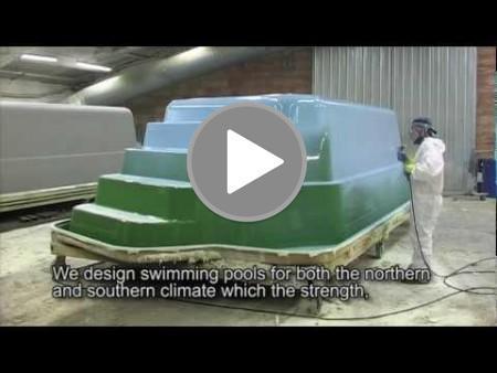 Produksjons/Innstallasjons-Video av våre glassfiberbasseng